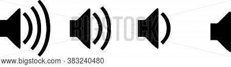 Speaker Icon Isolated On White Background , Voice, Volume, Volume Button