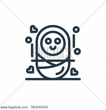 baby icon isolated on white background from women day collection. baby icon trendy and modern baby s