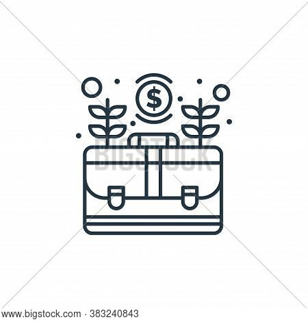 briefcase icon isolated on white background from strategy collection. briefcase icon trendy and mode