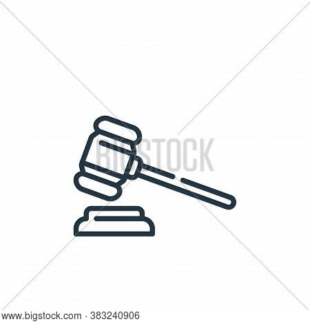 gavel icon isolated on white background from law and justice collection. gavel icon trendy and moder