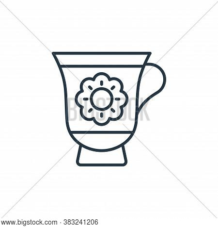 tea cup icon isolated on white background from antique collection. tea cup icon trendy and modern te