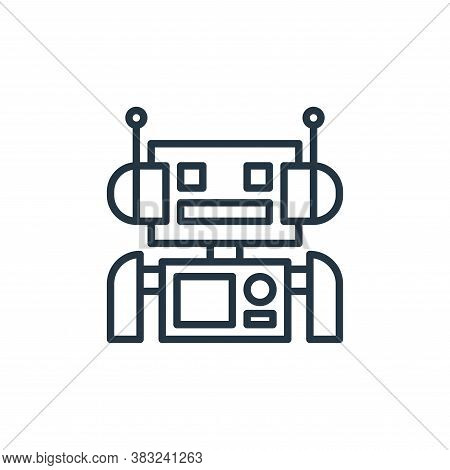 machine icon isolated on white background from artificial intelligence collection. machine icon tren