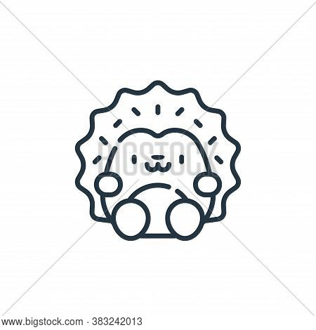 hedgehog icon isolated on white background from spring collection. hedgehog icon trendy and modern h