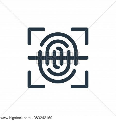 fingerprint icon isolated on white background from smart home collection. fingerprint icon trendy an