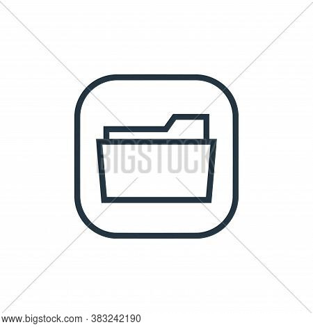 open folder icon isolated on white background from files and folders collection. open folder icon tr