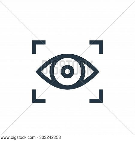 focus icon isolated on white background from graphic design collection. focus icon trendy and modern