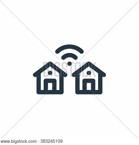 smart city icon isolated on white background from smart home collection. smart city icon trendy and