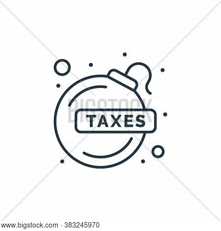 bomb icon isolated on white background from taxes collection. bomb icon trendy and modern bomb symbo