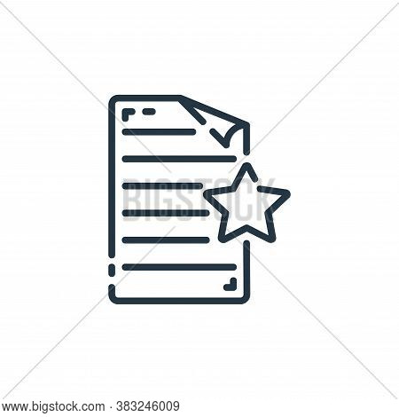 favorite icon isolated on white background from documents collection. favorite icon trendy and moder