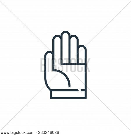 hand icon isolated on white background from education collection. hand icon trendy and modern hand s
