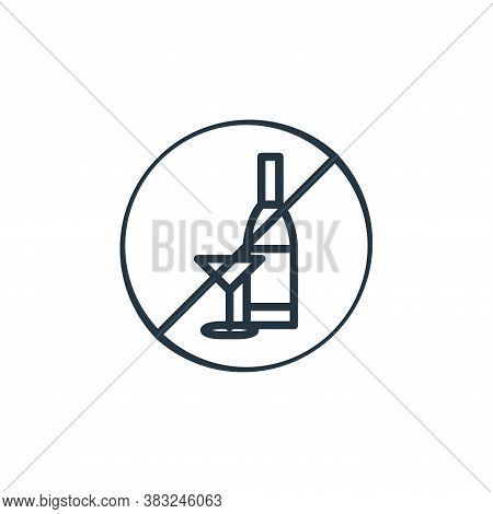 alcohol prohibition icon isolated on white background from health collection. alcohol prohibition ic