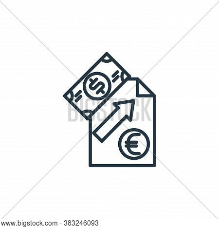 analytics icon isolated on white background from money collection. analytics icon trendy and modern