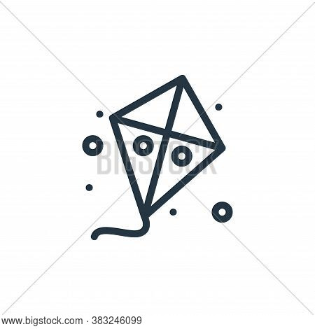 kite icon isolated on white background from spring collection. kite icon trendy and modern kite symb