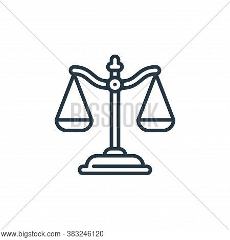 justice icon isolated on white background from education collection. justice icon trendy and modern