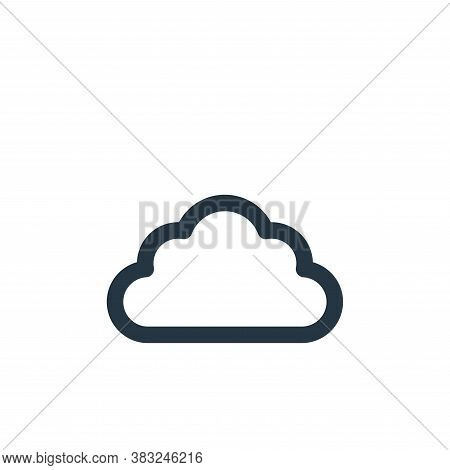 cloud icon isolated on white background from holiday collection. cloud icon trendy and modern cloud
