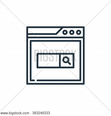 search icon isolated on white background from education collection. search icon trendy and modern se