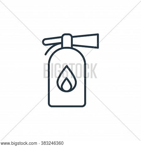 fire extinguisher icon isolated on white background from racing collection. fire extinguisher icon t