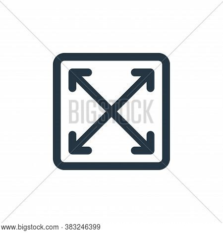 maximize icon isolated on white background from user interface collection. maximize icon trendy and