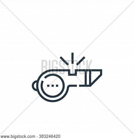 whistle icon isolated on white background from baseball collection. whistle icon trendy and modern w