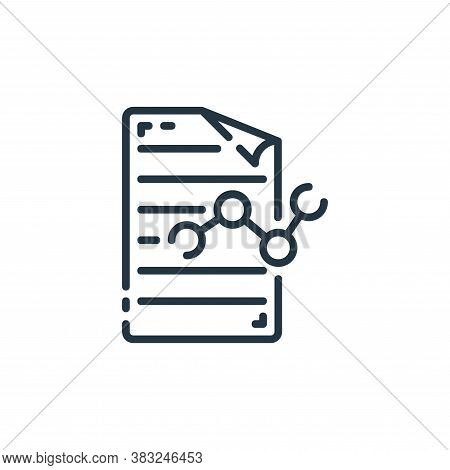 analysis icon isolated on white background from documents collection. analysis icon trendy and moder