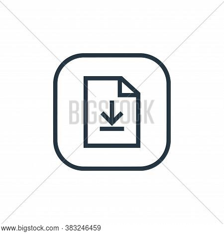 download file icon isolated on white background from files and folders collection. download file ico