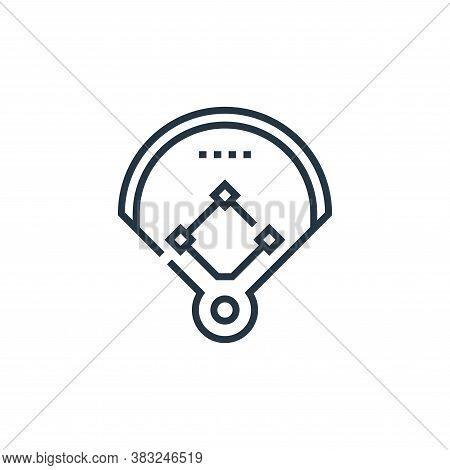 baseball field icon isolated on white background from baseball collection. baseball field icon trend