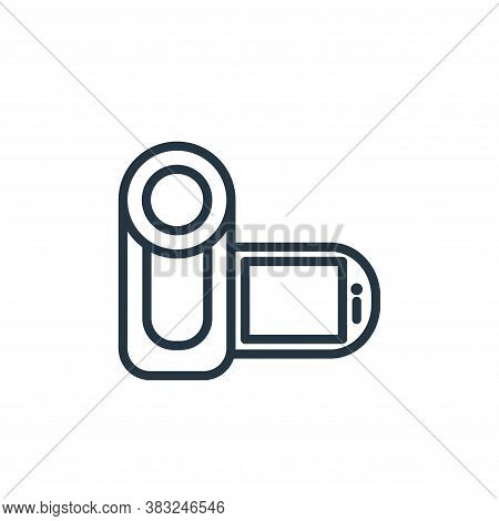 video camera icon isolated on white background from electronic devices outline collection. video cam