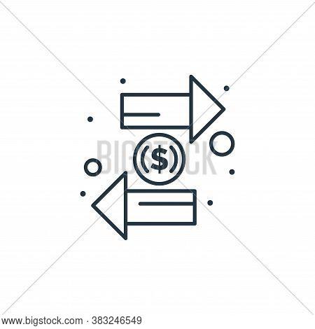 currency exchange icon isolated on white background from taxes collection. currency exchange icon tr