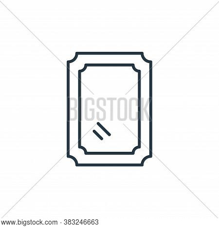 mirror icon isolated on white background from antique collection. mirror icon trendy and modern mirr