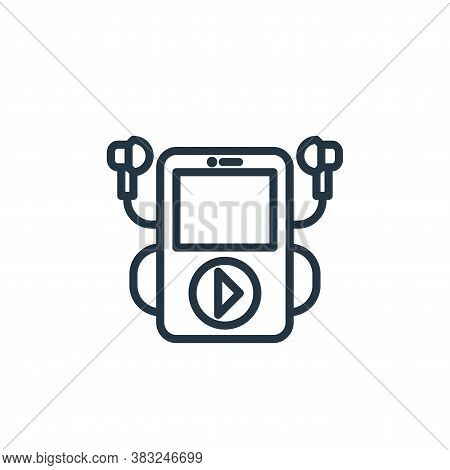 music player icon isolated on white background from electronic devices outline collection. music pla