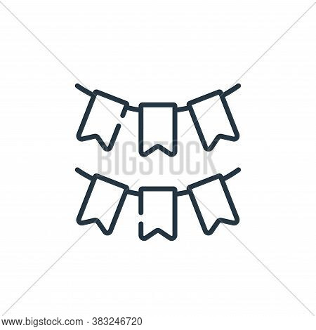 garland icon isolated on white background from ireland collection. garland icon trendy and modern ga