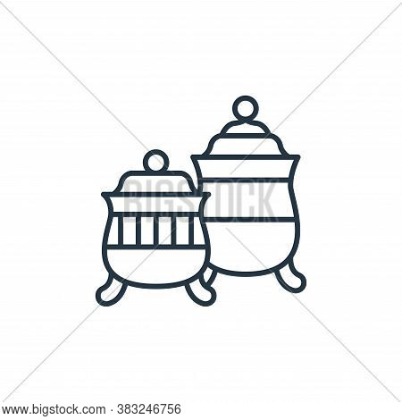 fine china icon isolated on white background from antique collection. fine china icon trendy and mod