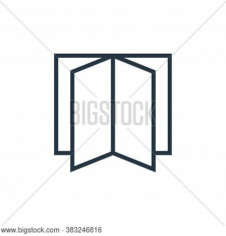 book pages icon isolated on white background from book and document collection. book pages icon tren