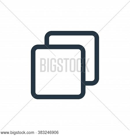 copy icon isolated on white background from user interface collection. copy icon trendy and modern c