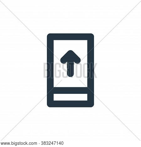 smartphone icon isolated on white background from px network and communication collection. smartphon