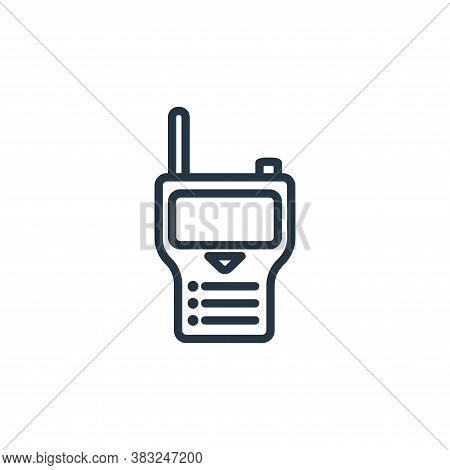 communication icon isolated on white background from electronic devices outline collection. communic