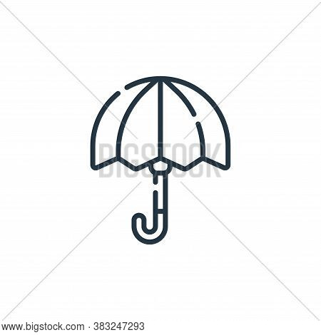 umbrella icon isolated on white background from spring collection. umbrella icon trendy and modern u