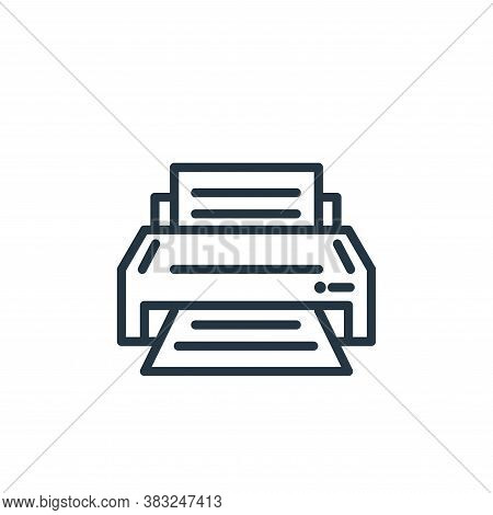 printer icon isolated on white background from electronic devices outline collection. printer icon t