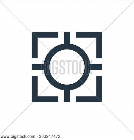 crosshair icon isolated on white background from crosshair collection. crosshair icon trendy and mod