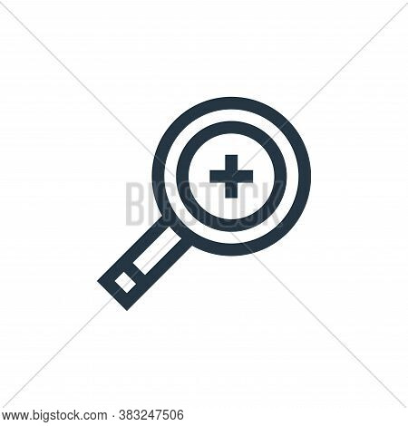 zoom in icon isolated on white background from graphic design collection. zoom in icon trendy and mo