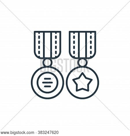 medals icon isolated on white background from antique collection. medals icon trendy and modern meda