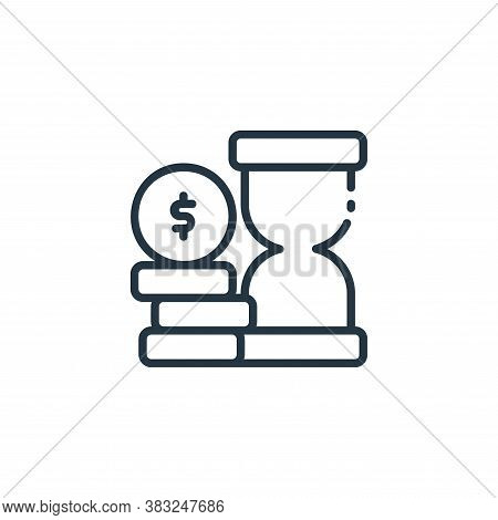 time is money icon isolated on white background from finance collection. time is money icon trendy a