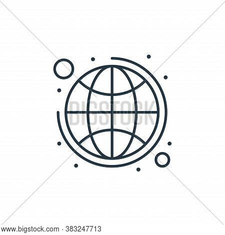 globe icon isolated on white background from strategy collection. globe icon trendy and modern globe