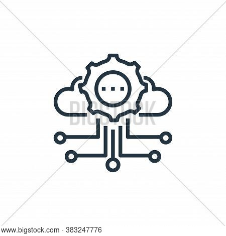 cloud storage icon isolated on white background from artificial intelligence collection. cloud stora