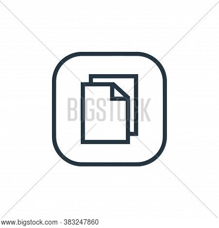 copy icon isolated on white background from files and folders collection. copy icon trendy and moder