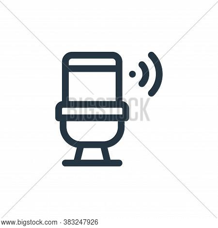 toilet icon isolated on white background from smart home collection. toilet icon trendy and modern t
