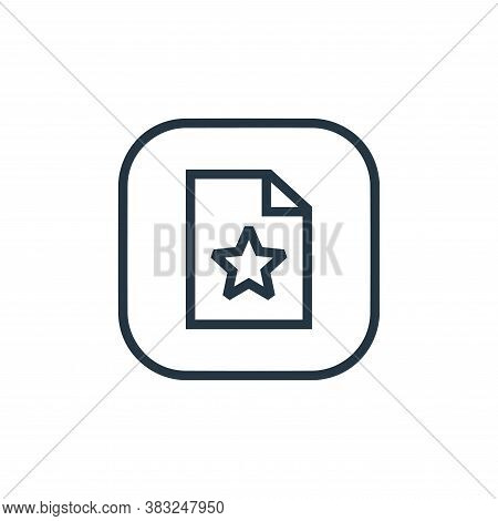 favourite icon isolated on white background from files and folders collection. favourite icon trendy