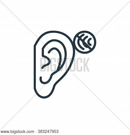 deaf icon isolated on white background from health collection. deaf icon trendy and modern deaf symb