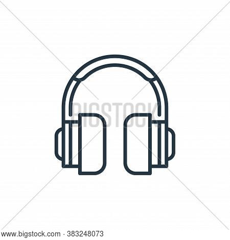 headphones icon isolated on white background from education collection. headphones icon trendy and m