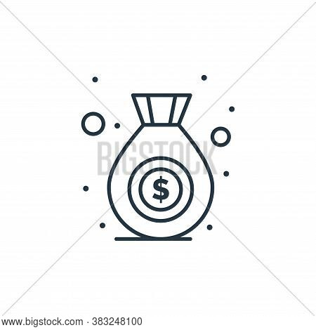 money bag icon isolated on white background from strategy collection. money bag icon trendy and mode